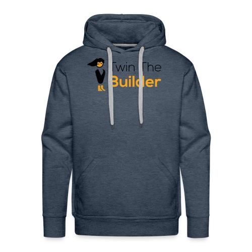 Twin The Builder Stacked Logo - Men's Premium Hoodie