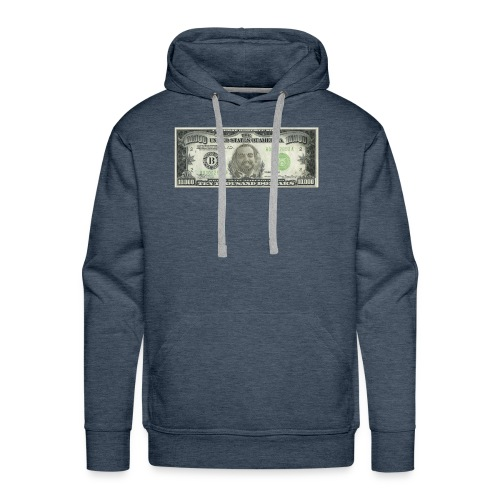 Face on Paper Money - Men's Premium Hoodie