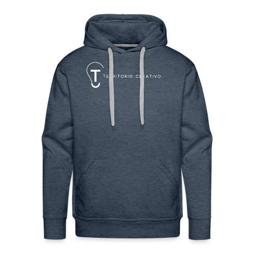 TC logo White - Men's Premium Hoodie