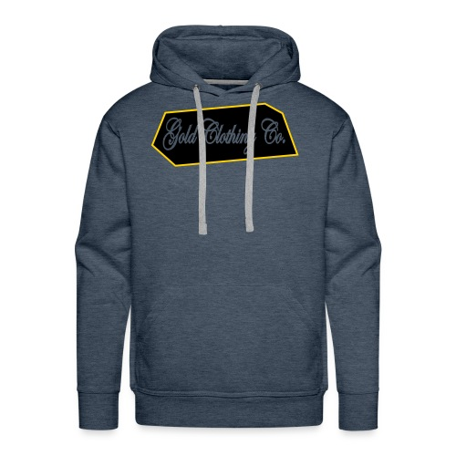 GOLD Clothing Co. Brick Logo - Men's Premium Hoodie