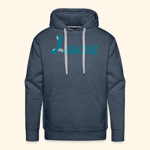 Lucee logo turquoise - Men's Premium Hoodie
