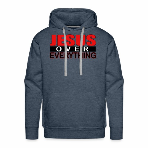 jesus over everything logo6 - Men's Premium Hoodie