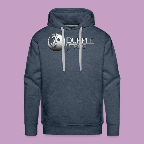 PurpleF LogoWhite Small Copy - Men's Premium Hoodie