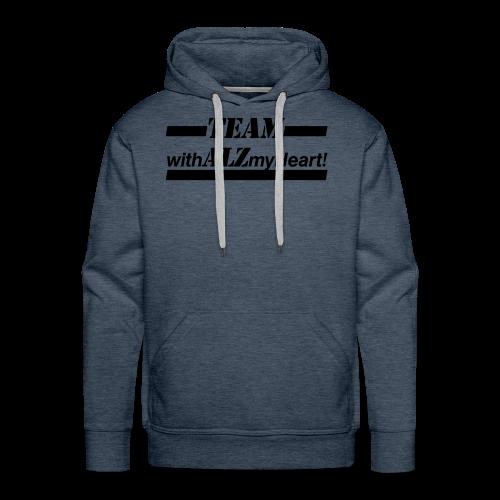 Team withALZmyHeart Logo Wear - Men's Premium Hoodie