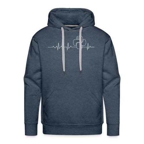Python Heartbeat T-shirt Hoodie - Men's Premium Hoodie