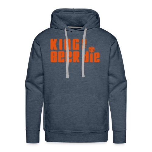 KING OF BEER DIE (Orange) - Men's Premium Hoodie
