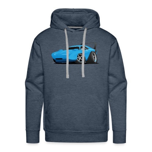 Classic American Winged Muscle Car Hot Rod - Men's Premium Hoodie