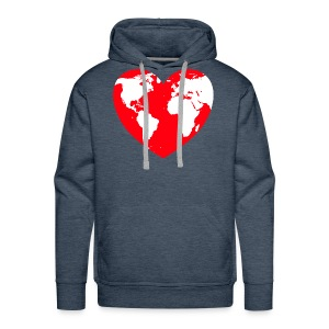 HEART LOVE PLANET MOTHER EARTH - Men's Premium Hoodie