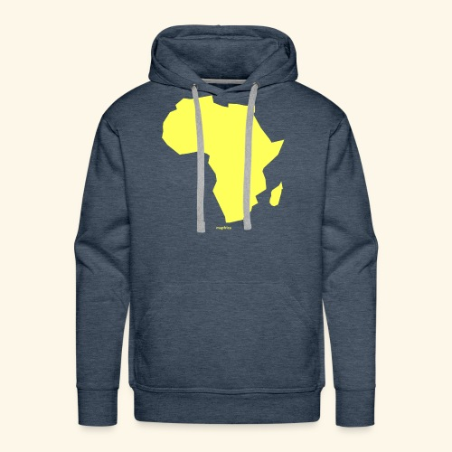 Africa Map Continent yellow - Men's Premium Hoodie
