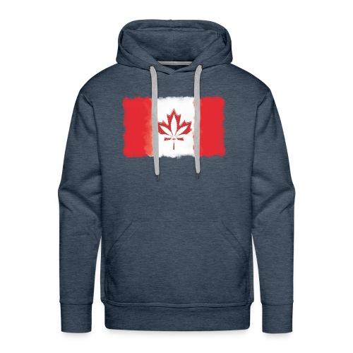 Canadian Flag - Cannabis Smoke Cloud - Men's Premium Hoodie