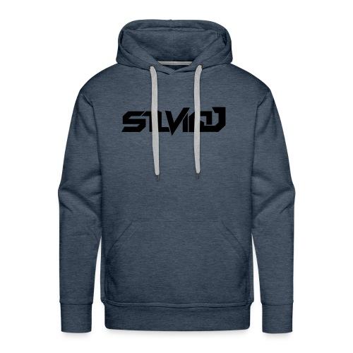 SilvioJ Text Logo Black - Men's Premium Hoodie