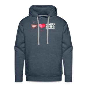 Coffee Love and Photography - Men's Premium Hoodie