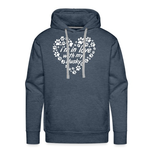 Im in love with my husky dog - dogs lovers - Men's Premium Hoodie