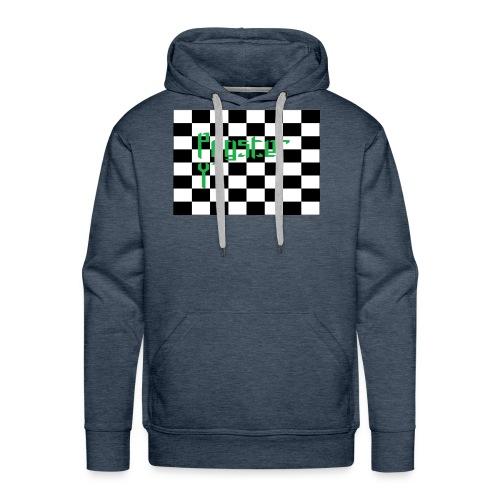 Checkers Pug - Men's Premium Hoodie