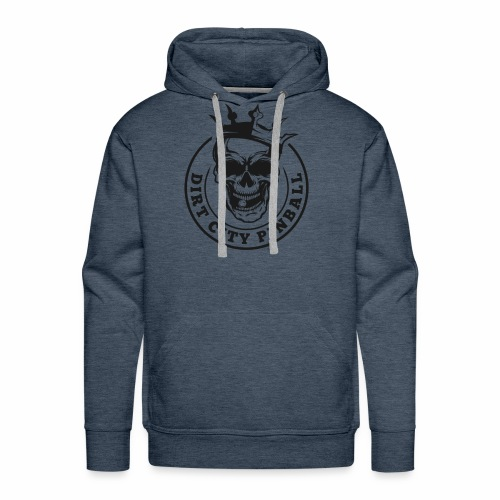 Dirt City Pinball Black/White Logo - Men's Premium Hoodie