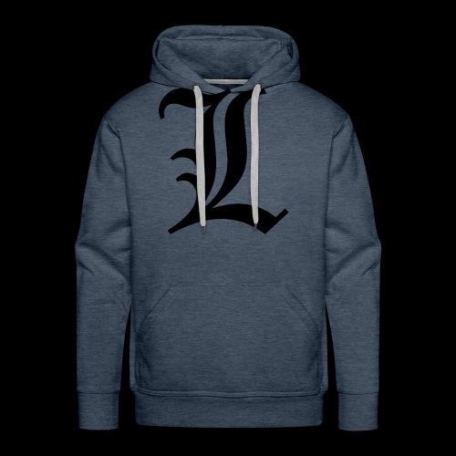 L lettering - Men's Premium Hoodie