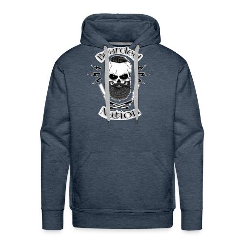 Bearded Nation Logo 1 - Men's Premium Hoodie