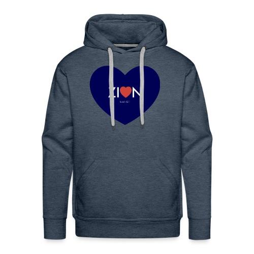 Zion in my heart/ I Won't Keep Silent - Men's Premium Hoodie