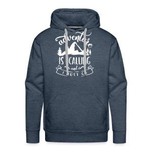 Adventure is Calling Tshirt - Men's Premium Hoodie