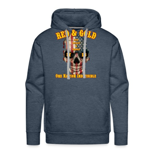 Red and Gold Indivisible tee - Men's Premium Hoodie
