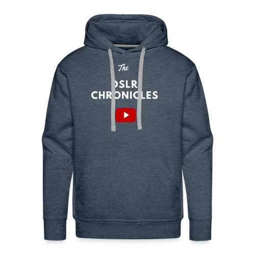 The DSLR Chronicles Tee (white letters) - Men's Premium Hoodie