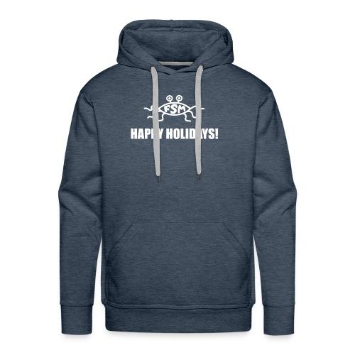 Happy Holidays (Flying Spaghetti Monster) - Men's Premium Hoodie