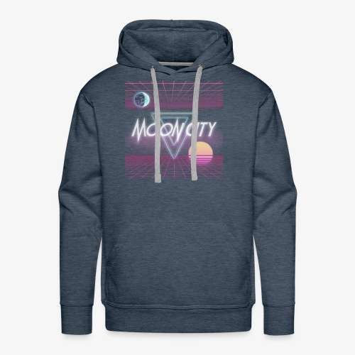 Moon City Retrogrid - Men's Premium Hoodie