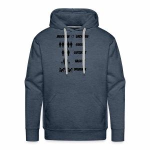 Male Musician Groupies Black Logo - Men's Premium Hoodie