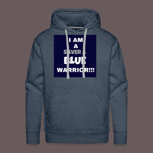 Silver Blue warrior - Men's Premium Hoodie