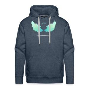 Angel wings with nimbus - Men's Premium Hoodie