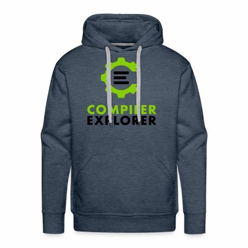 Logo and text - Men's Premium Hoodie