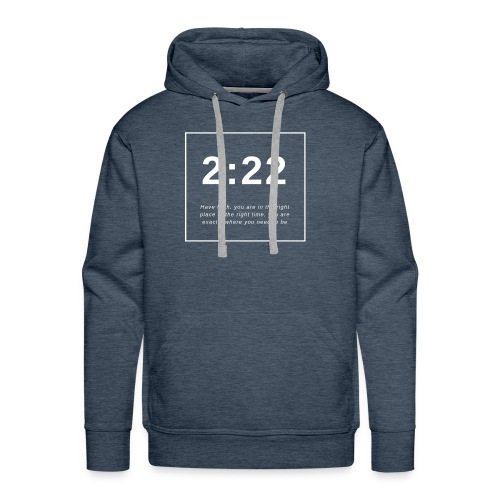 Angel Number 2:22 - Men's Premium Hoodie