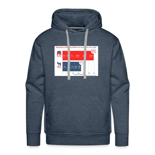 Republican Democret - Men's Premium Hoodie