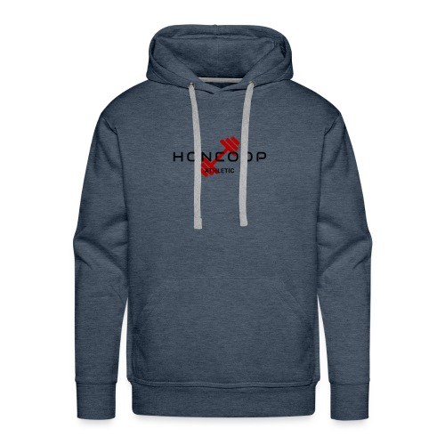 HONCOOP Athletic Black On Red Logo - Men's Premium Hoodie