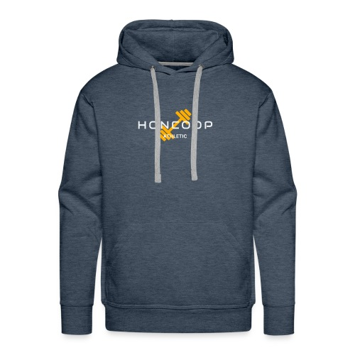 Honcoop Athletic White On Orange Logo - Men's Premium Hoodie