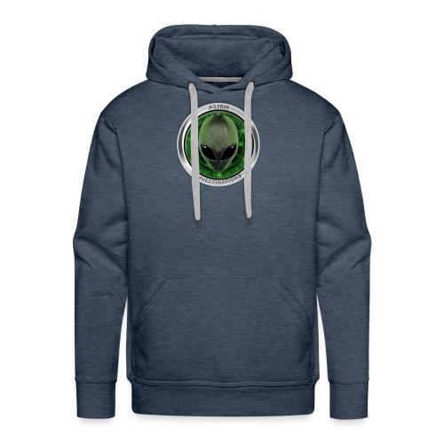 New Alien Investigations Head Logo - Men's Premium Hoodie