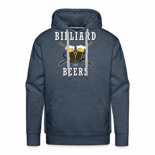 Billiard Lover - Billiard And Beers - Men's Premium Hoodie