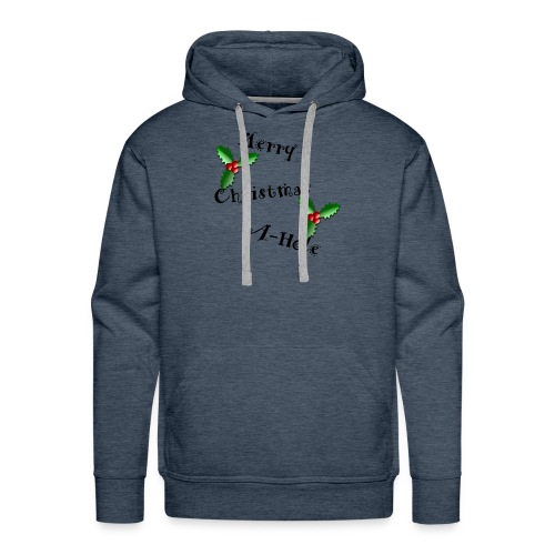 merry christmas a hole - Men's Premium Hoodie