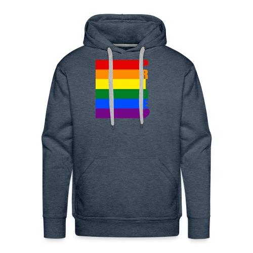 LGBT Pride Flag text - Men's Premium Hoodie