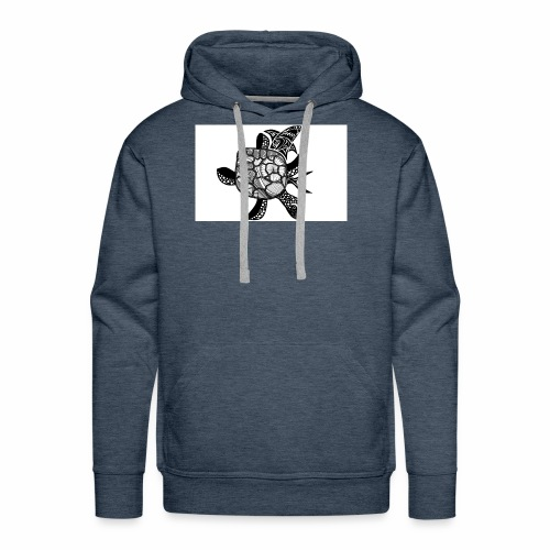 turtle and shark - Men's Premium Hoodie