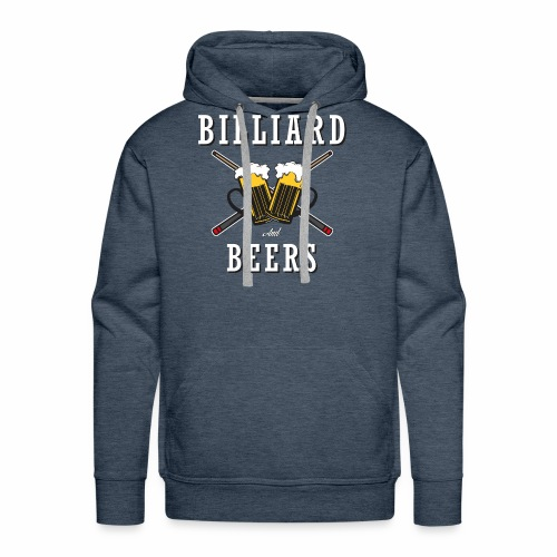 Billiard Lover - Billiard And Beers - Men's Premium Hoodie