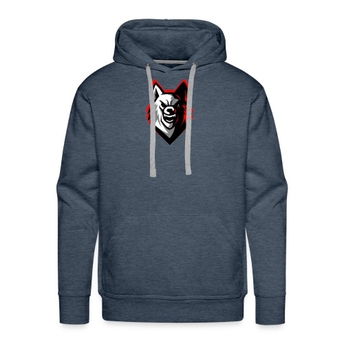 clean wolf logo by akther brothers no watermark - Men's Premium Hoodie
