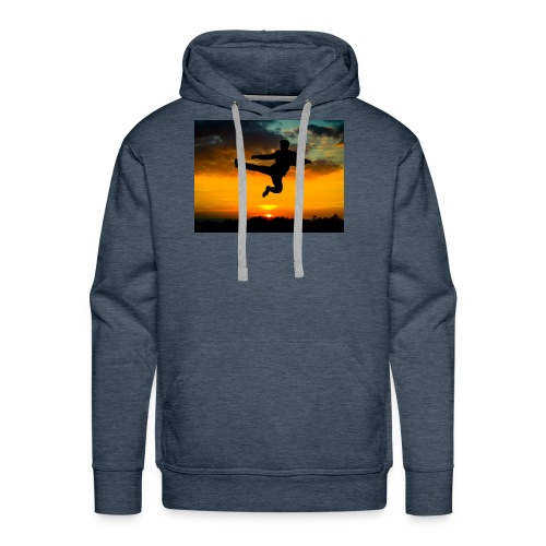 flying kick 1000x750 - Men's Premium Hoodie