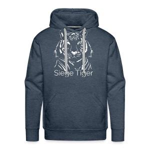 Siege Tiger White - Men's Premium Hoodie