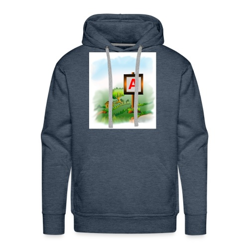 Super nature kids love letter A banner - Men's Premium Hoodie