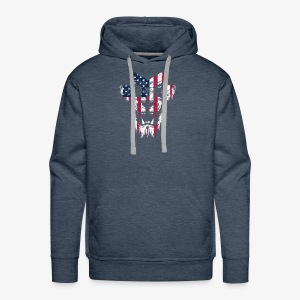 Lovely American Lion USA Flag Silhouette Portrait - Men's Premium Hoodie