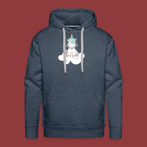 Happy Unicorn on Cloud 9 - Men's Premium Hoodie