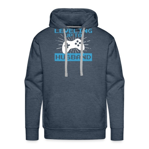 Funny Leveling Up To Husband T-Shirt - Men's Premium Hoodie