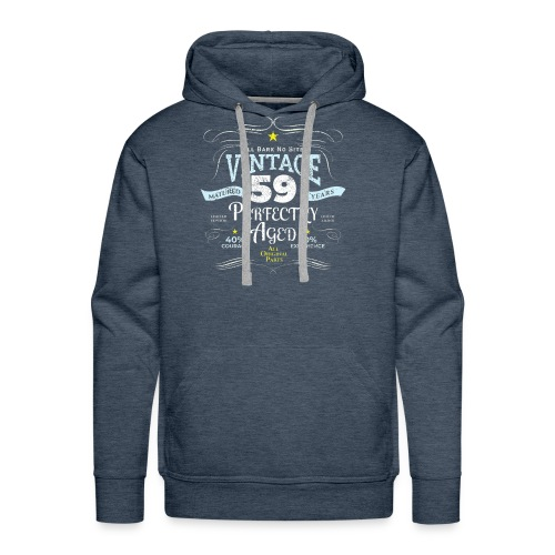 Funny Vintage 59th Birthday Gift - Men's Premium Hoodie