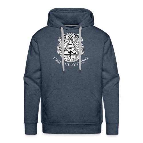 I see Everything Illuminati Secret Society T-Shirt - Men's Premium Hoodie